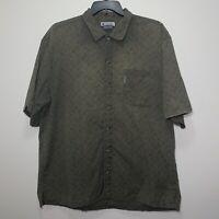 Columbia Sportswear Green Short Sleeve Button Down Fishing Shirt Men's XL