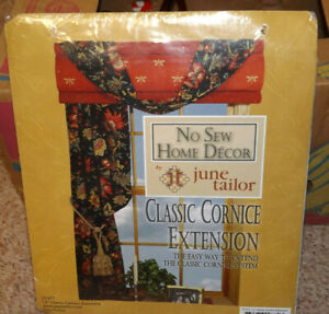 "2 June Tailor No Sew Window Classic Cornice Extension Kits 12"""