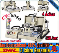 USB 6040 CNC Router 4 AXIS Engraving Cutting Machine 1.5KW 3D Cutter + Handwheel