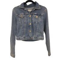 JOIE Jeans Women's Blue Denim Cropped Jacket Size Medium