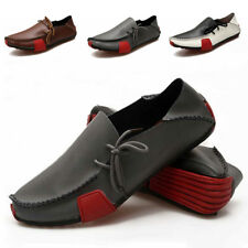 Men's Driving Moccasins Summer Soft Casual Leather Loafers Boat Shoes Slip On