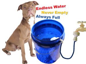 Build your own Automatic Dog Pet Water Bowl Bucket Kit Garden Faucet/Spigot