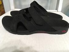 Abeo Alli Black Leather Sport Slide Sandals Size 6N
