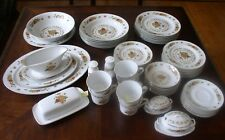 Vintage 55 Pcs Chori CHINA FORMAL Mirakami Floral Pattern Dinnerware Set Japan