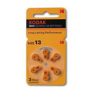 Kodak Hearing Aid Batteries Mercury Free Zinc Air | Size 13 | P13 - 10 Packets