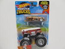 Hot Wheels 2021 Monster Trucks - Red 5 - Alarm w/ Crushed Diecast Car