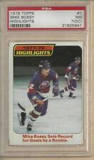 1978 Topps Mike Bossy #1 PSA 7 (OC) NM! N.Y. Islanders HOF RC (Highlights)