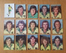 AVA Americana Football Special '79 - Set of 15 Norwich City Stickers - 1979