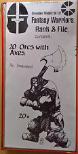 Grenadier Fantasy Warriors - 449 Orcs with Axes x 20 Battleset (Mint, Sealed)