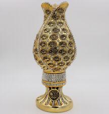 Islamic Turkish Home Table Decor 99 Names of Allah Tulip Egg Sculpture Gold