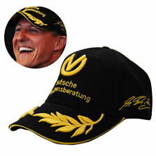 Black F1 FORMULA 1 MICHAEL SCHUMACHER SIGNED CAP 20 YEARS CHAMPION BASEBALL HAT