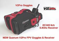 NUOVO Quanum v2pro Occhiali con Ricevitore 8ch aggiornato pacchetto IDEAL 4 FPV UK POST