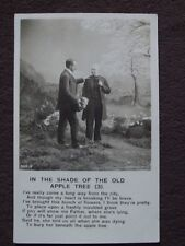 IN THE SHADE OF THE OLD APPLE TREE (3), Vtg PHOTO POSTCARD - MEN AT GRAVESITE