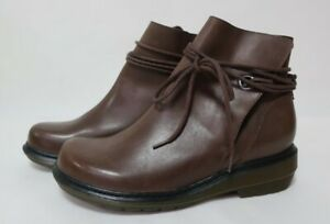 Dr Martens Shelby Ladies Brown Leather Boots in Size UK6 | Excellent Condition