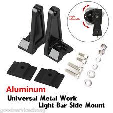 Universal Side Brackets Mount Row LED Work Light Bar Heavy Duty Diecast Aluminum