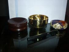 SET CAMPANA TIBETANA REALIZZATA MANO + EBOOK + SUPPORTO LEGNO sette metalli