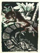 WOLF & ESEL - Ludwig Heinrich JUNGNICKEL - Original FarbLithographie 1919