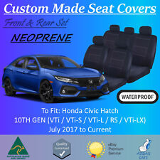 Waterproof Neoprene Seat Covers to fit Honda Civic Hatch from 07/2017 - Current