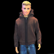 Barbie Ken Doll Fashion Clothes Brown Hoodie Coat Jacket For KEN Dolls