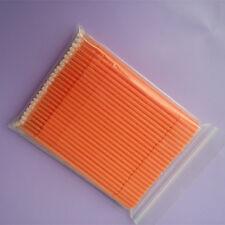 10 Packs Dental Disposable Micro Applicator Brush Stick Bendable Large Orange