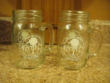 FIREFLY SOUTHERN SWEET TEA VODKA Glass Redneck 12oz Mason Jars SET OF 2