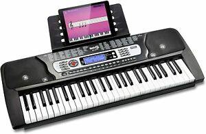 Keyboard RockJam E-Piano 54 Tasten Tastatur Klavier Instrument schwarz Musik