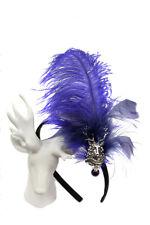 Haarreifen Federngesteck Tracht schwarz lila Haarschmuck Trachtenschmuck Dirndl