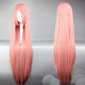 Super Long 100CM Full Wigs Halloween Cosplay Costume Hair Anime Wavy Straight