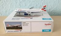 Herpa Wings 1:500 518925 British Airlines Airbus A320 G-EUYL