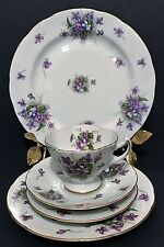 Rossetti Spring Violet Fine China 5 pc place setting Hand painted Occupied Japan