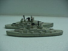 Lot of 2 Two Vintage Tootsietoy 1034 Battleships Navy Ships 1941 Some Damage