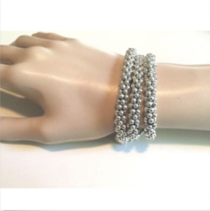 Lagos Caviar Sterling Silver Bracelet Beaded Rope 7mm NWT