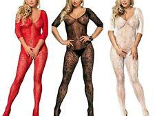 Sexy/Sissy Lingerie Underwear Crotchless BodyStocking Bodysuit One Sz 6/8/-14/16