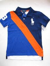 NWT Ralph Lauren Boys Big Pony Banner Striped Polo Size 7