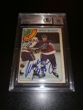 Mike Bossy Signed 1978-79 O-Pee-Chee OPC Rookie Card NY Islanders BAS Slabbed