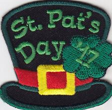 """ST. PAT'S DAY '17"" - IRISH - CELEBRATION - HOLIDAY - Iron On Embroidered Patch,"