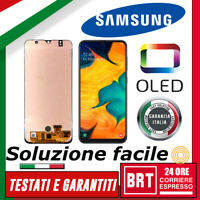 DISPLAY LCD+TOUCH SCREEN OLED=ORIGINALE per SAMSUNG GALAXY A30S SM-A307F VETRO!!