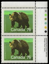 """CANADA 1178 - Grizzly Bear """"1989 Harrison Paper"""" (pa43372)"""