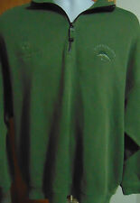 "Tommy Bahama Olive Green ""Canada Special Olypics"" pullover with 1/2 Zipper Large"
