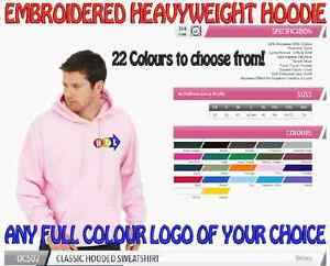 Heavyweight Personalised Uniform Workwear Hoodie. FREE COLOUR EMBROIDERED LOGO!
