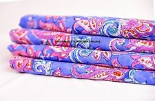 10 Yard Indian Blue Hand block Print Running Loose Cotton Fabrics Printed Decor
