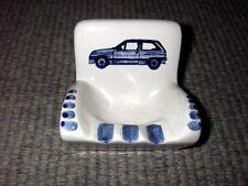 Vintage reclame asbak Ford - Garage Sebrechts Kapellen - delfts blauw