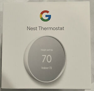 Google Nest Smart Thermostat Snow GA01334-US Use w/ IOS Android Alexa