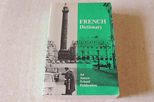 French Dictionary Amsco School Soft Cover 1972  VERY HEAVY GREAT