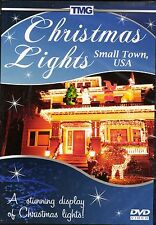 CHRISTMAS LIGHTS SMALL TOWN, USA: VIRTUAL HOLIDAY SCENES & SOUNDS DVD w/ MUSIC!