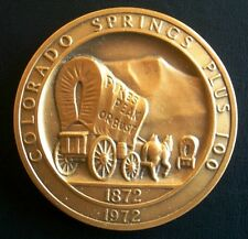 COLORADO SPRINGS Colorado 100th Anniversary Medallic Art Medal/Coin ~ 1872-1972