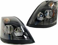 Fits For Volvo Vnl 2004 2017 Headlight Withled Black Right Amp Left Pair Set2lbs Fits Volvo