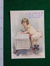 1870s-80s L M Lasell Merrick's Six Cord Girl with Paper Victorian Trade Card F30