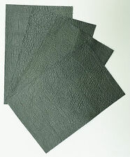 UPHOLSTERY LEATHER PIECES, 4 @ 15CM X 10CM ANTIQUE GREEN, 1.0-1.2 mm SOFT FEEL