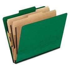 Pendaflex Six-Section Colored Classification Folders Letter 2/5 Tab Green 10/Box